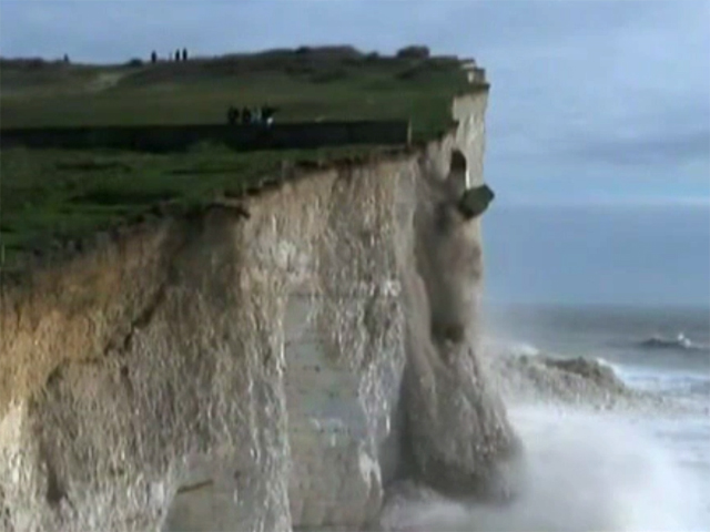 Effondrement près de Birling Gap, source BBC News