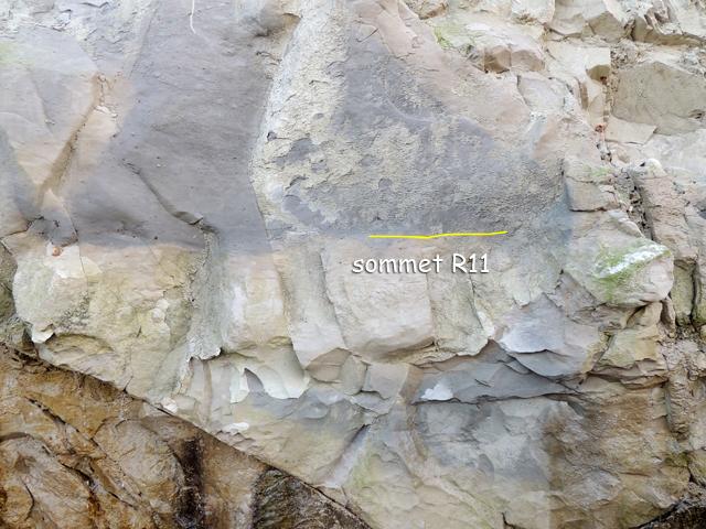 Zoom sur le sommet de R11 Coupe 50°55.36N 1°42.16E