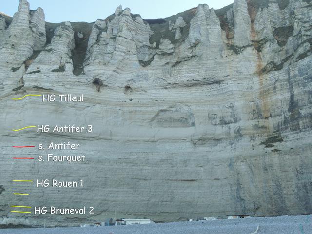 La falaise du Grouin à Bruneval