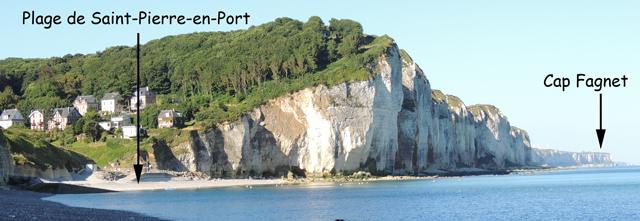 Les falaises à l'W de Saint-Pierre-en-Port
