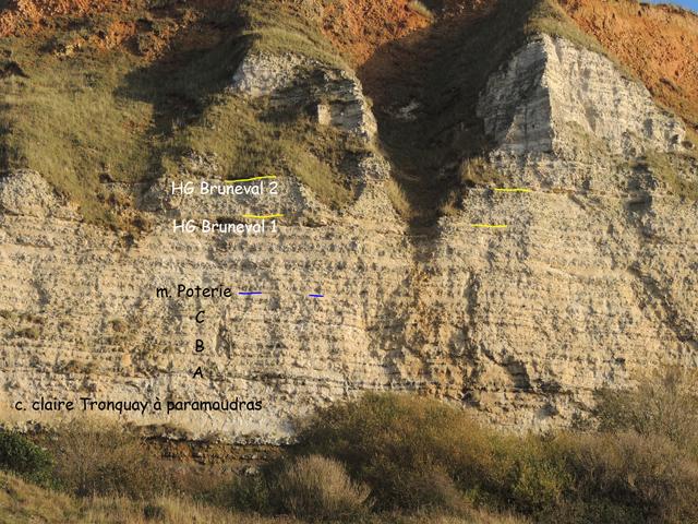 Haute falaise au-dessus du bloc affaissé AS32.00'N