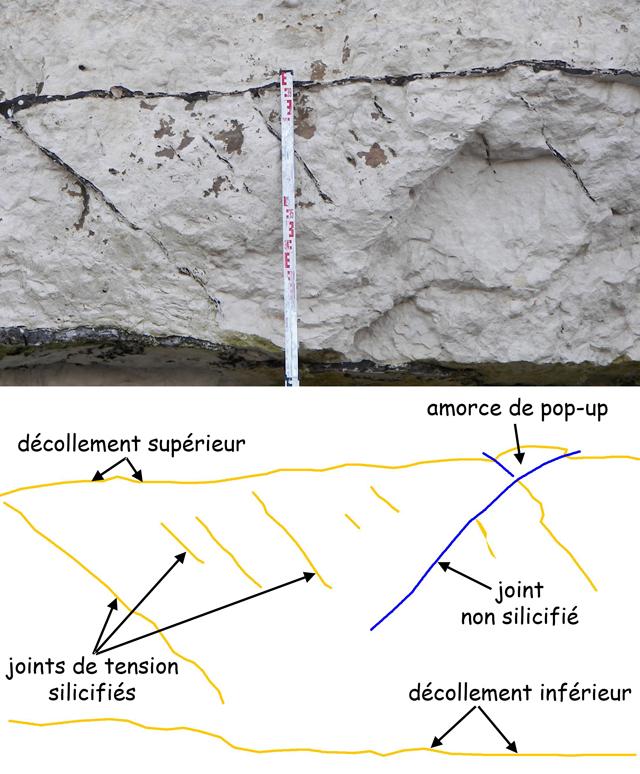 joints de tension silicifiés