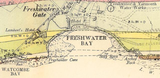 Extrait de carte géologique ancienne, repris du site web de Ian West