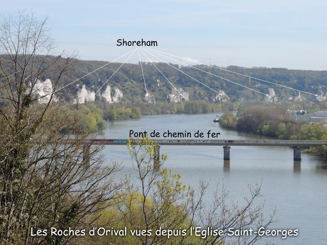 Les Roches d'Orival vues depuis l'église Saint-Georges