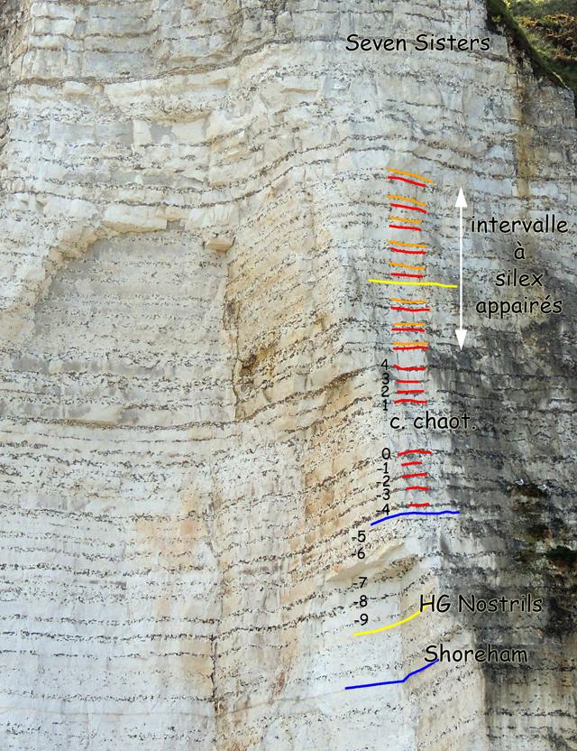 oupe 49°49.4316N 0°31.1092E - cliché 16 mai 2013 - partie haute de la falaise