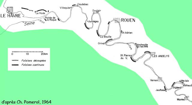 Les falaises de la Basse Seine selon Pomerol (1964)