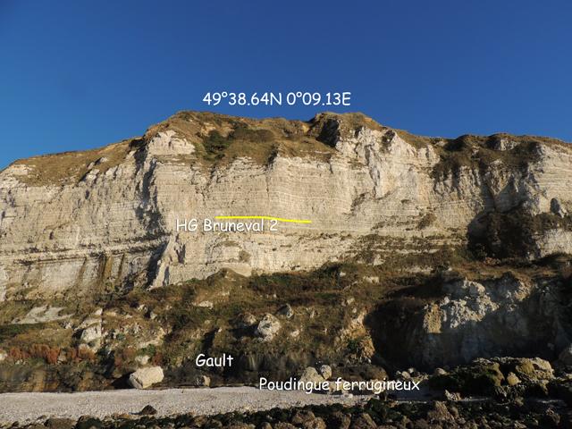 Vue générale de la falaise et de la préfalaise