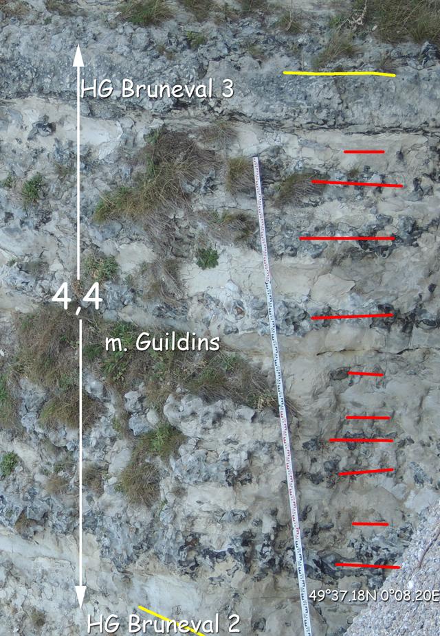 Intervalle entre le HG Bruneval 2 et le HG Bruneval 3