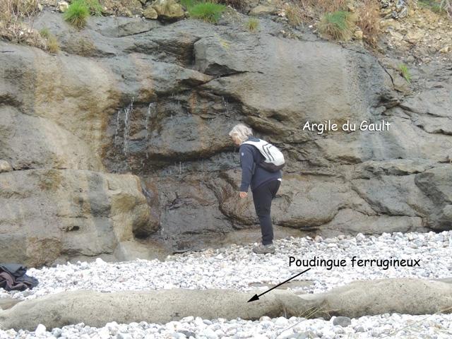 Poudingue ferrugineux et Argile du Gault