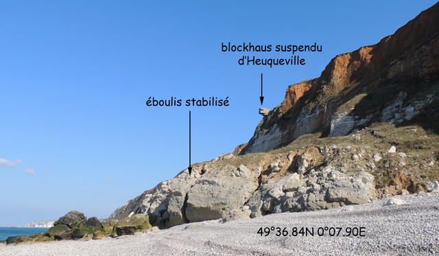Eboulis stabilisé au Sud du blockhaus