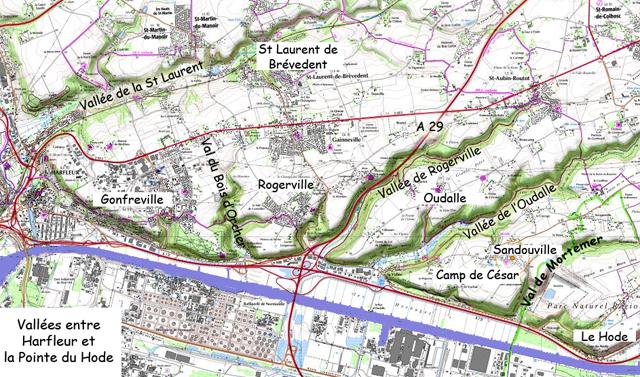 Basse Seine Rive Droite - Principaux vallons