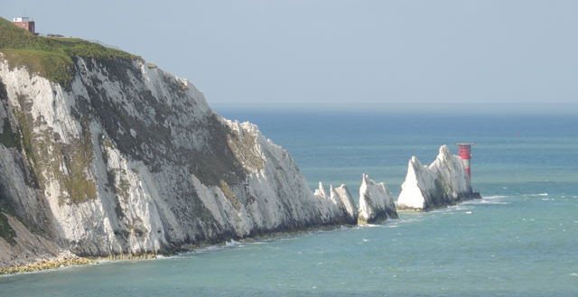 Les Needles vues depuis le belvédère d'Alum Bay