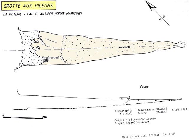 Topographie de la grotte (JC & J. Staigre)